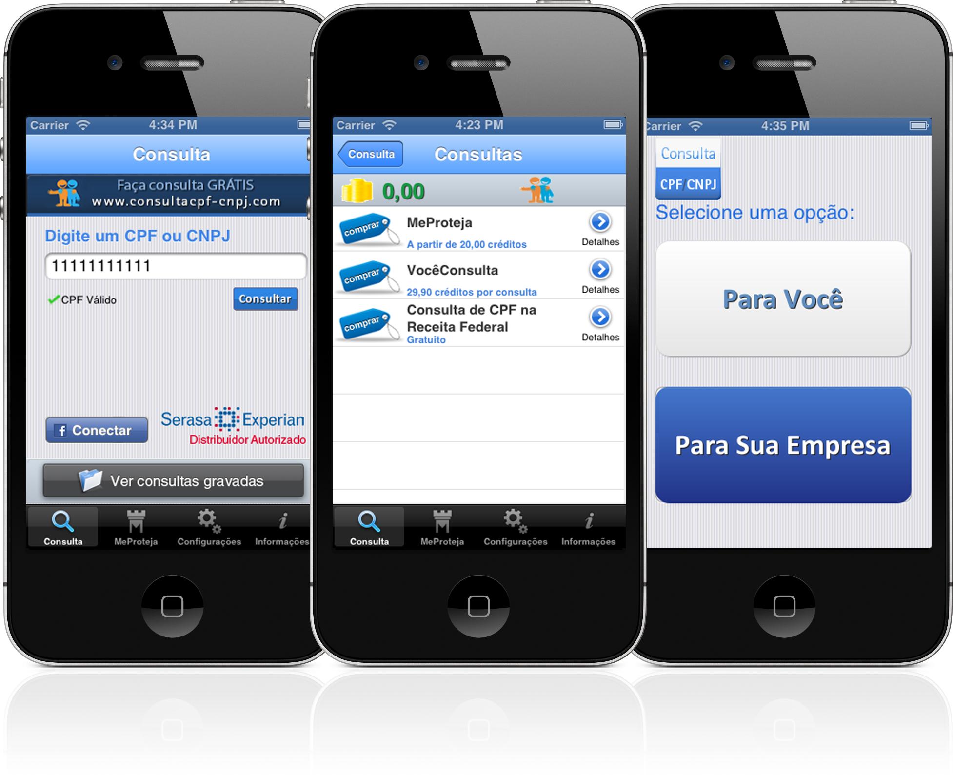 Consulta CPF/CNPJ em iPhones