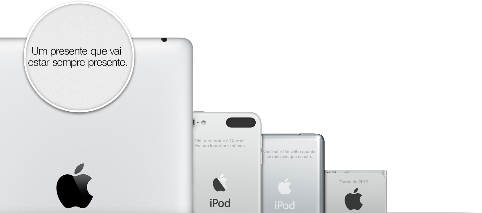 Apple - gravação a laser em iGadgets