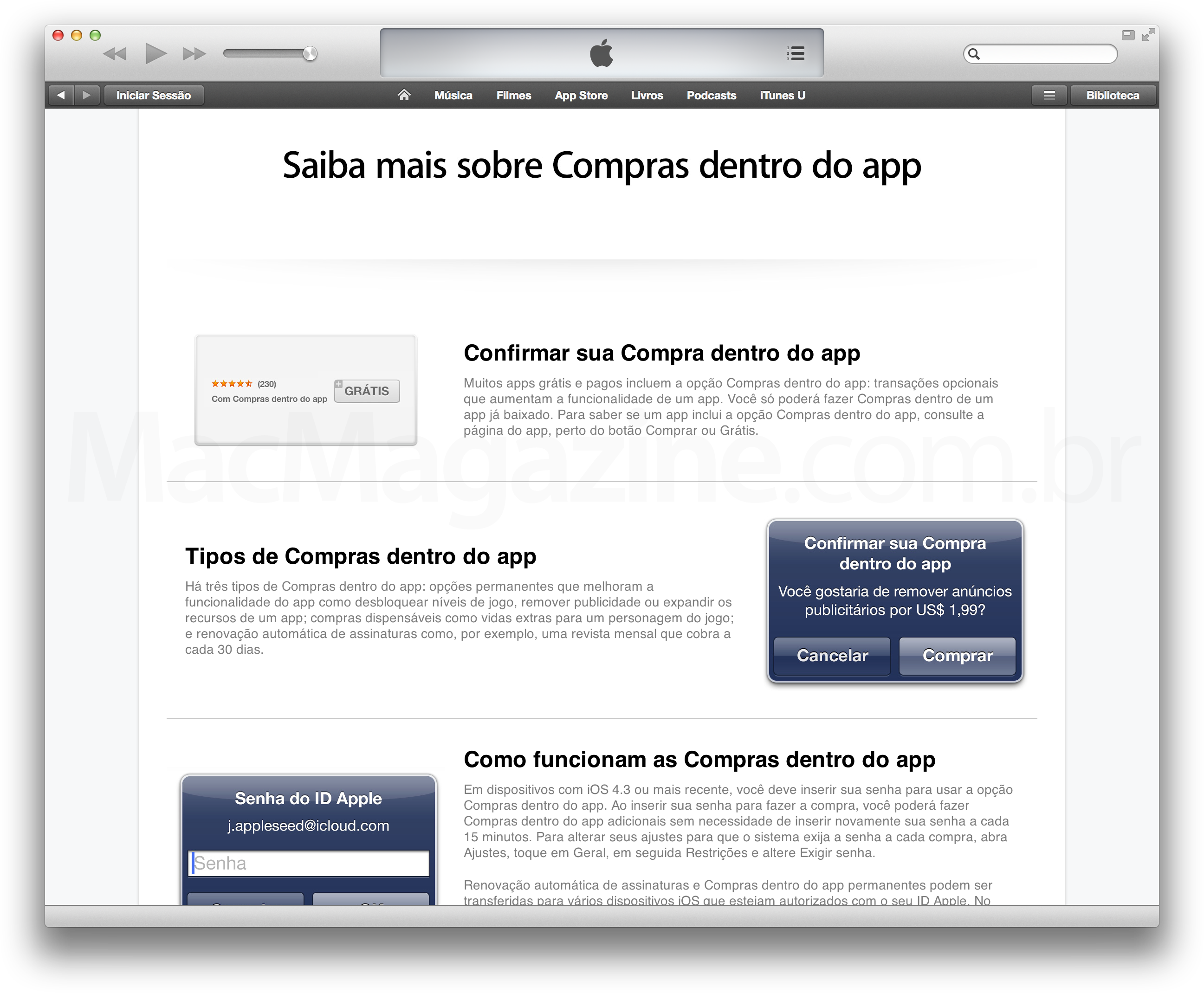 Apple explica sobre In-App Purchases