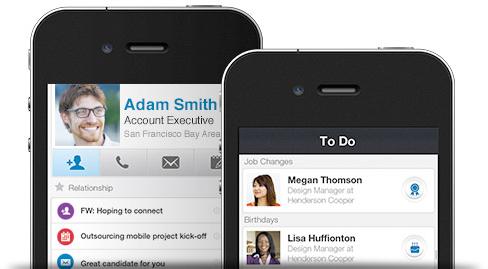 LinkedIn Contacts em iPhones