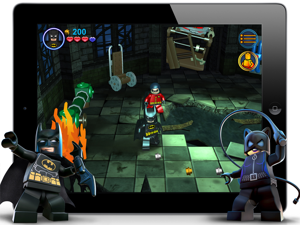 Screenshot do jogo LEGO Batman: DC Super Heroes para iOS