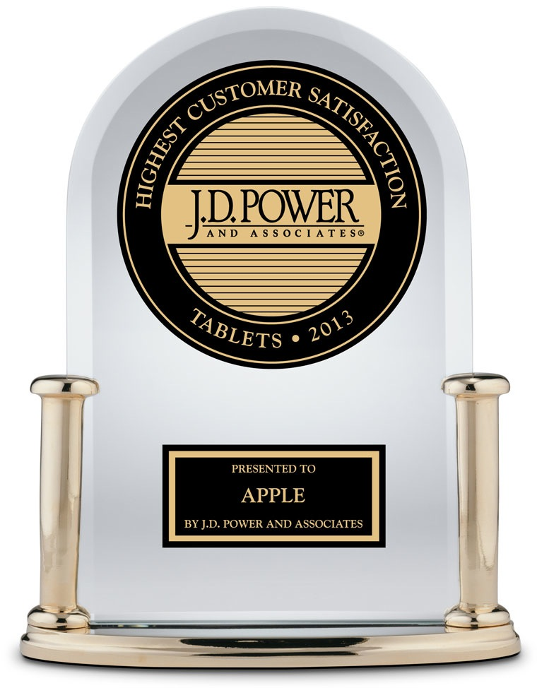 Troféu J.D. Power - iPad (2013)