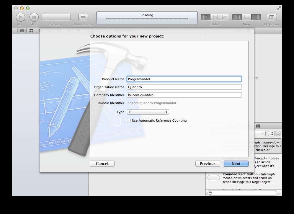 Nome dentro do Xcode