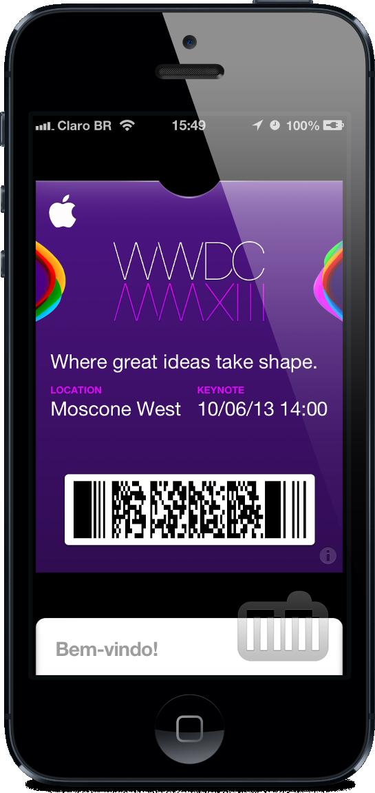 Ticket da WWDC 2013 para Passbook