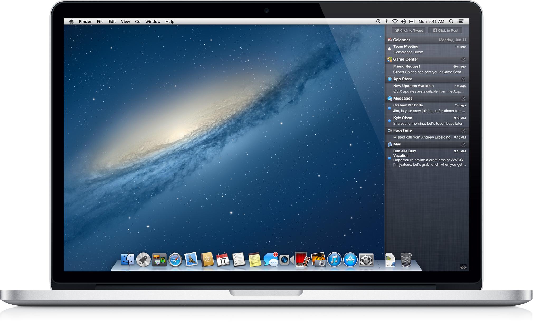 OS X Mountain Lion num MacBook Pro - Apple