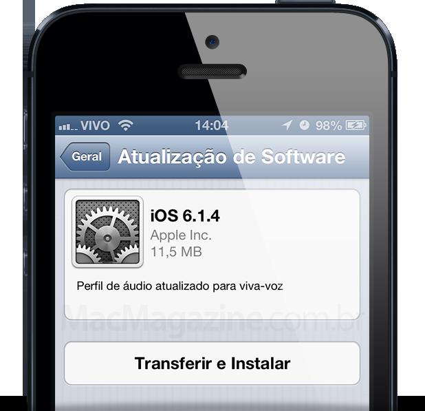 iOS 6.1.4 no iPhone 5