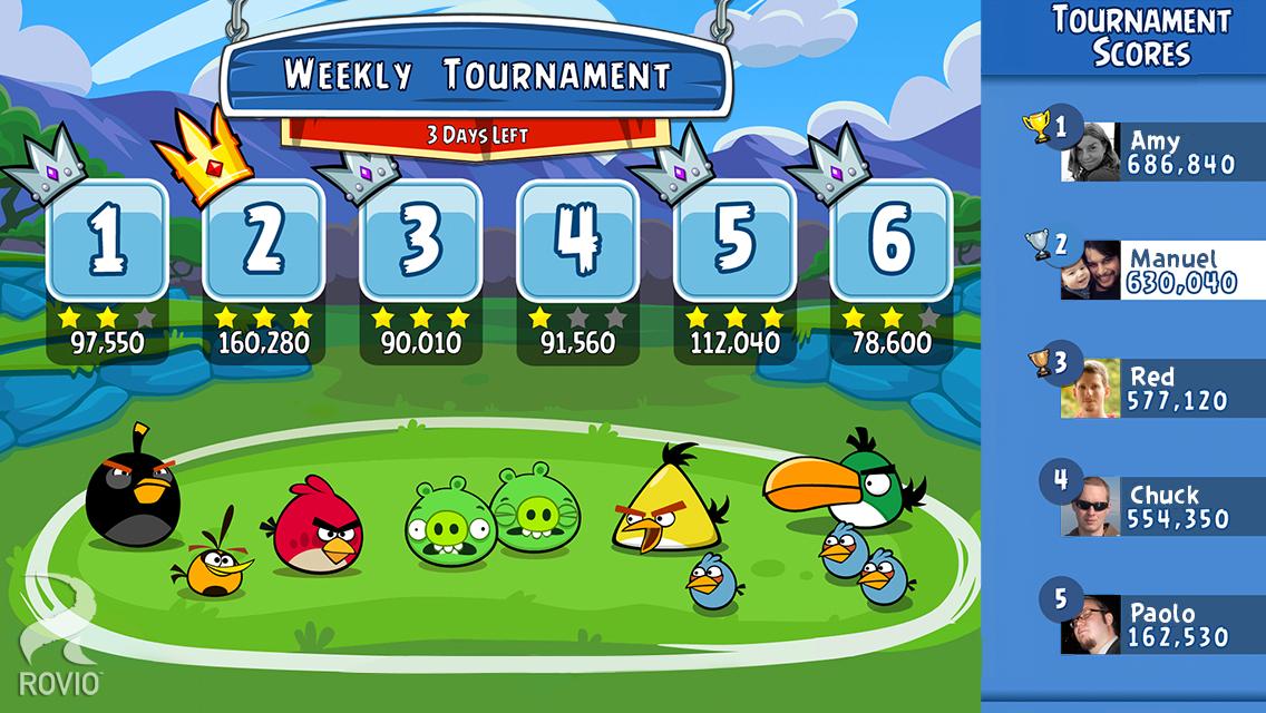 Screenshot do jogo Angry Birds Friends para iOS