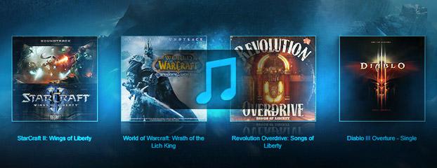 Trilhas da Blizzard na iTunes