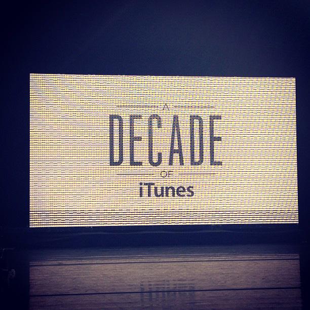 Evento para empregados da Apple - Uma década de iTunes