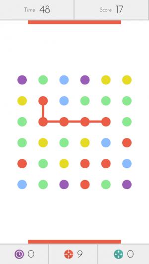 Screenshot do jogo Dotz para iPhone e iPod touch