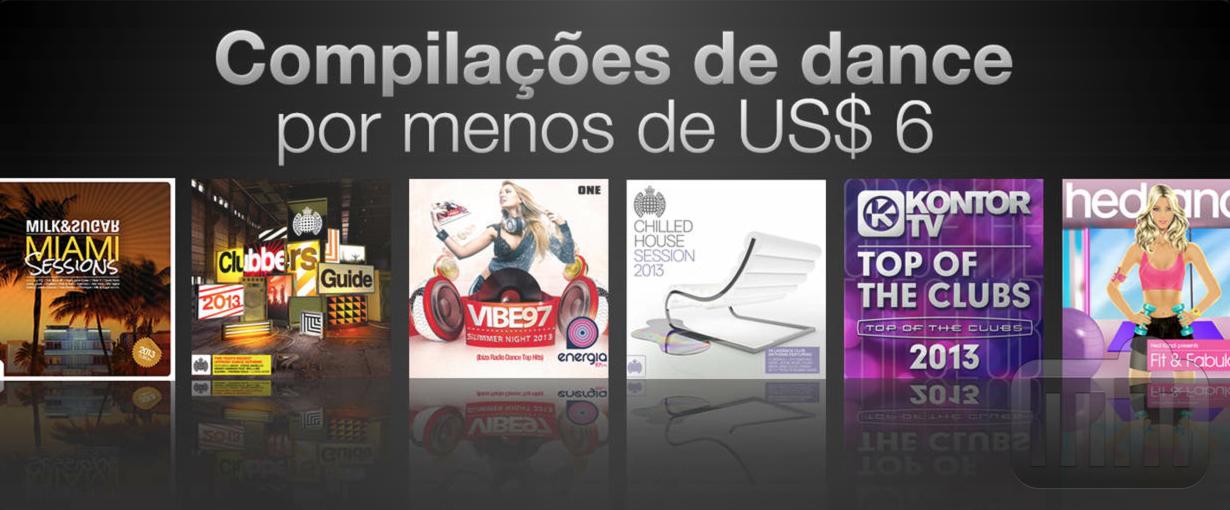 Compilações de dance na iTunes Store brasileira