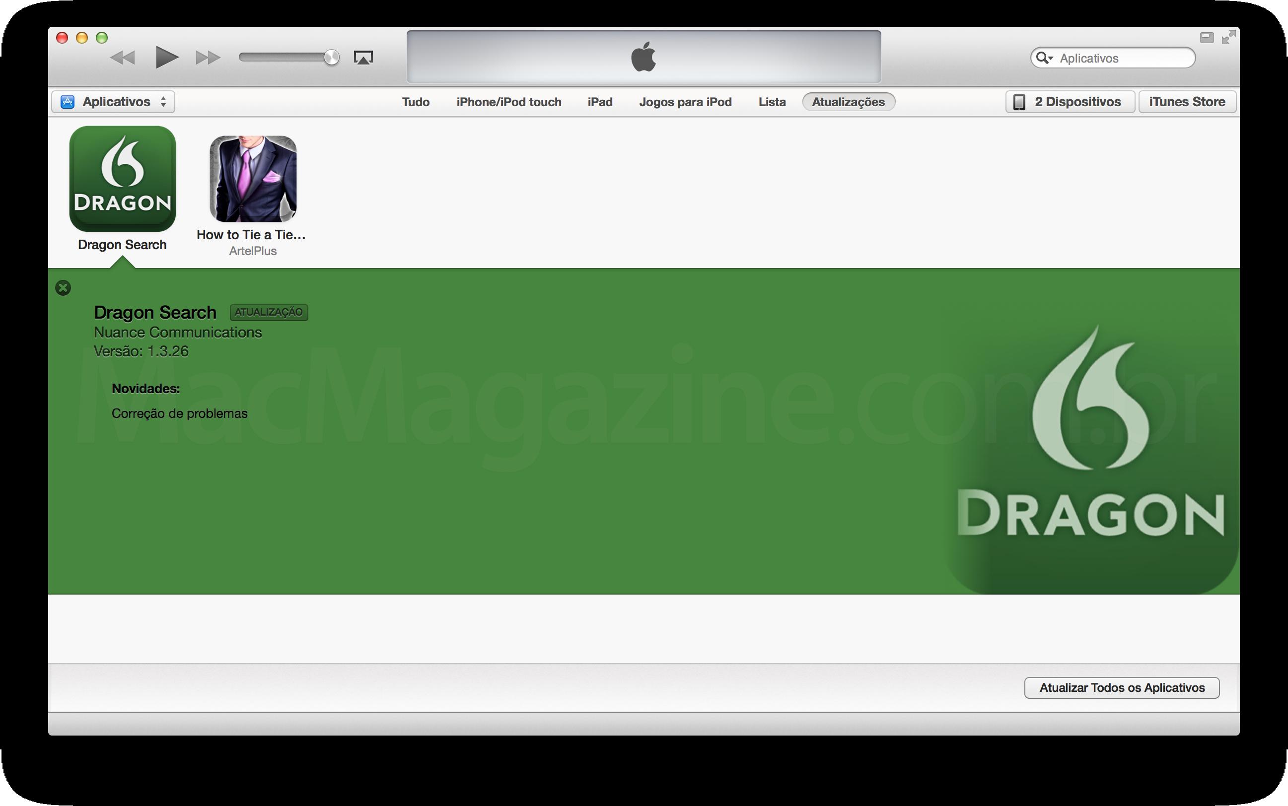Atualizando apps no iTunes 11.0.3