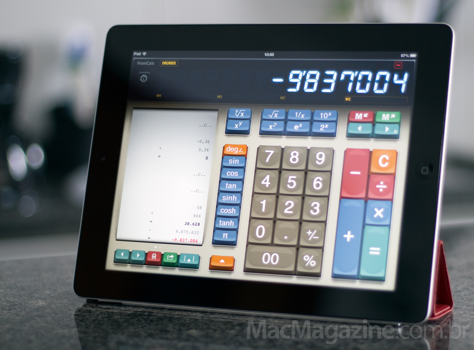 MaxiCalc no iPad