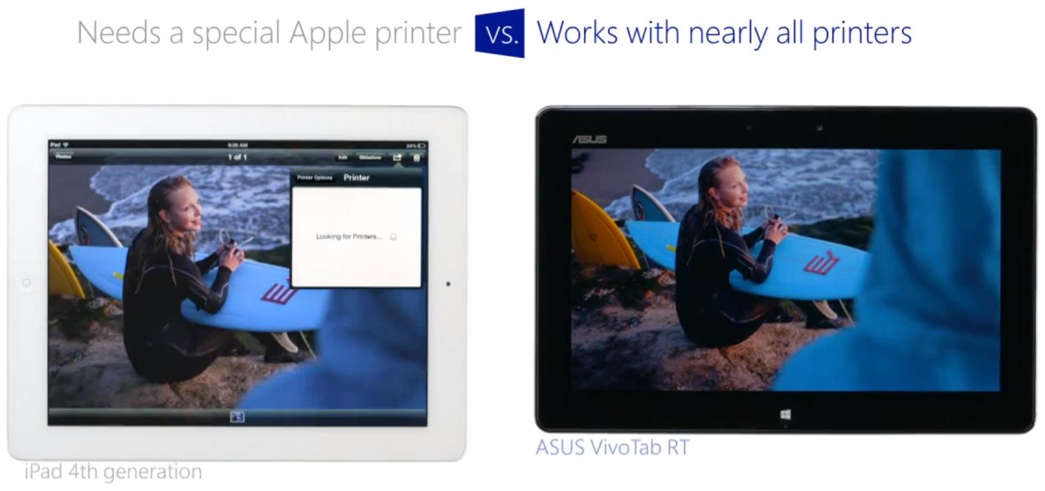 Mentiras da Microsoft - Impressora da Apple