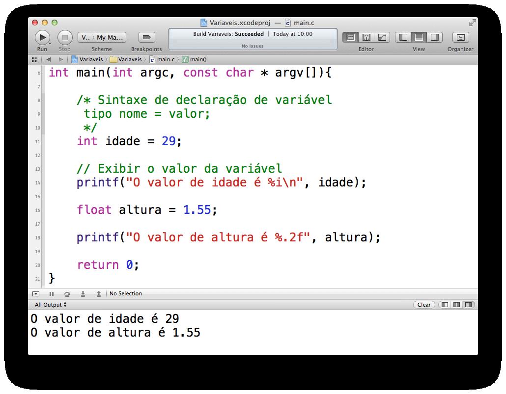 Barra de porcentagem no código