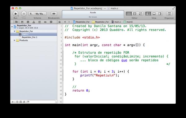 programando em C — estrutura de repetição FOR