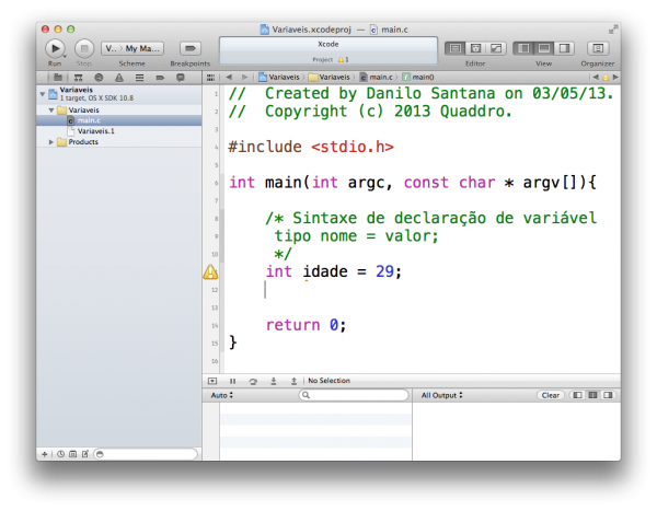 programando em C — variáveis