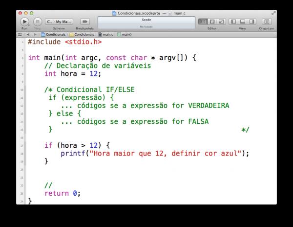 programando em C — estruturas condicionais