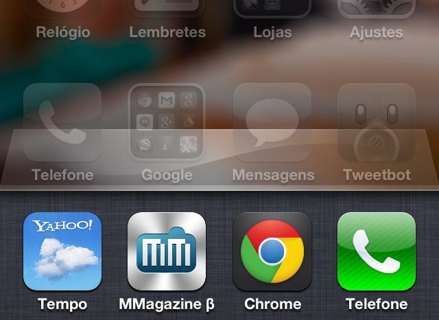 Barra multitarefa do iOS