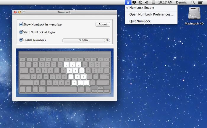 NumLock no Mac