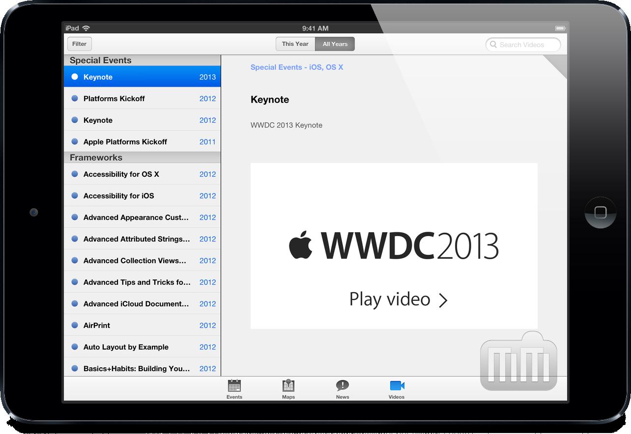 App WWDC - Videos