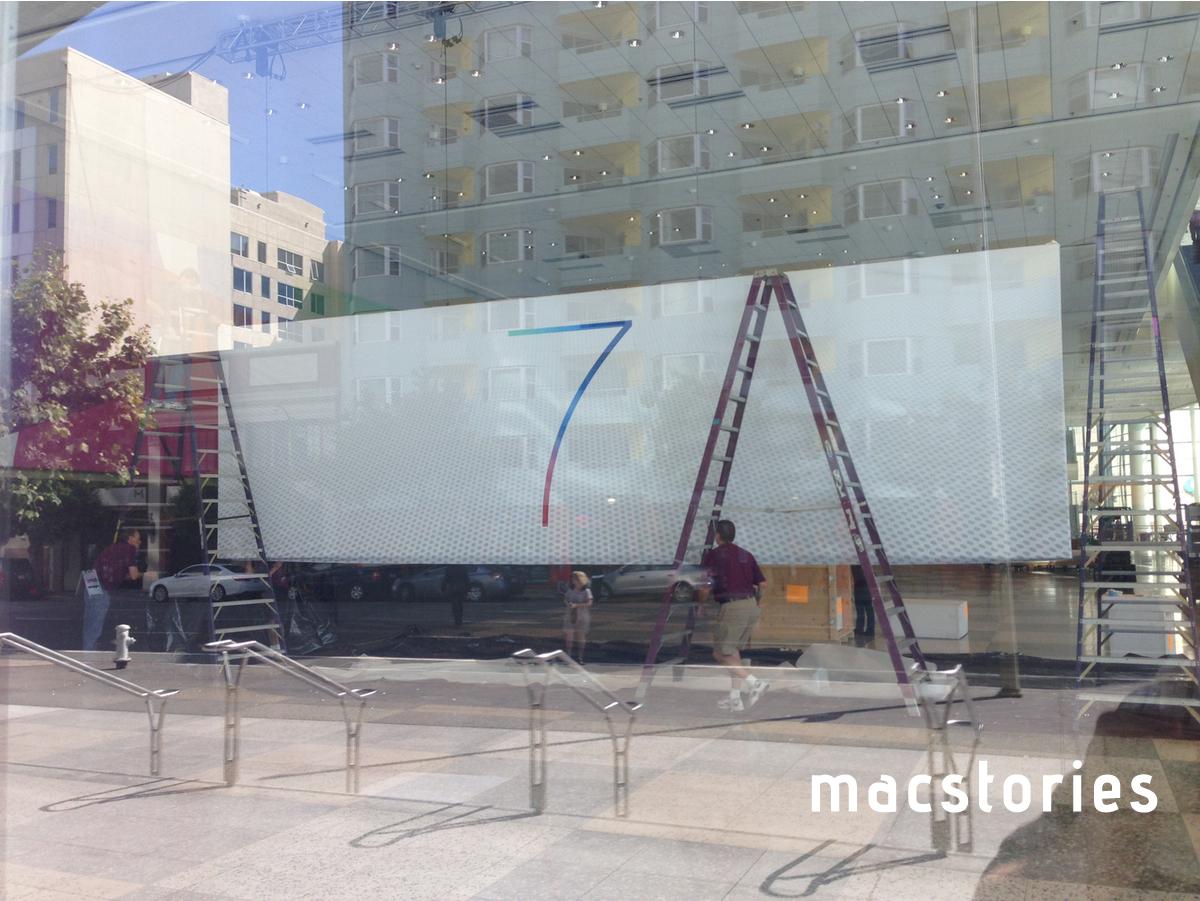 Banner do iOS 7 no Moscone Center