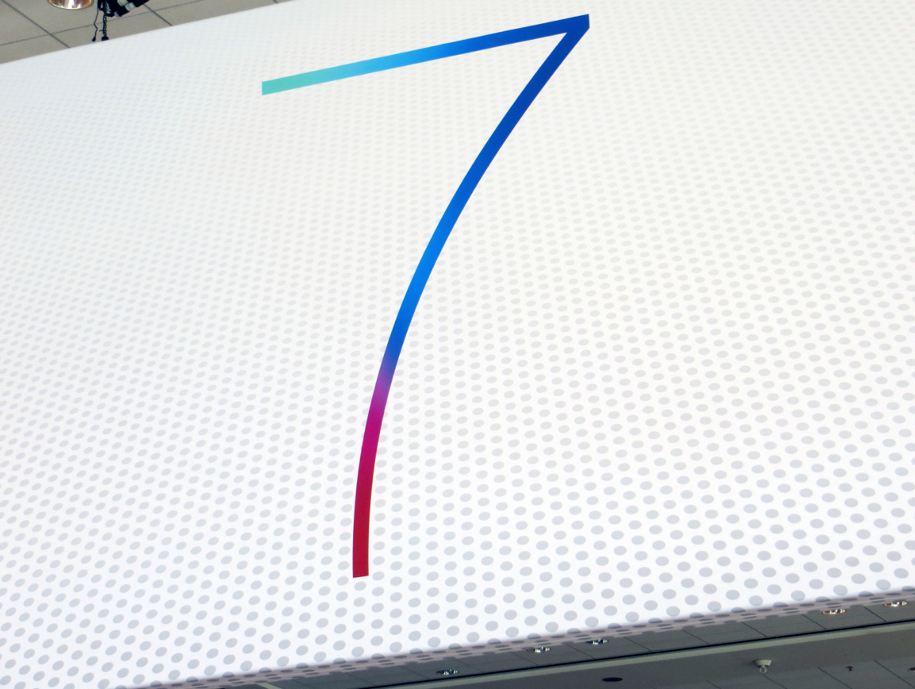 Banner do iOS 7 no Moscone Center