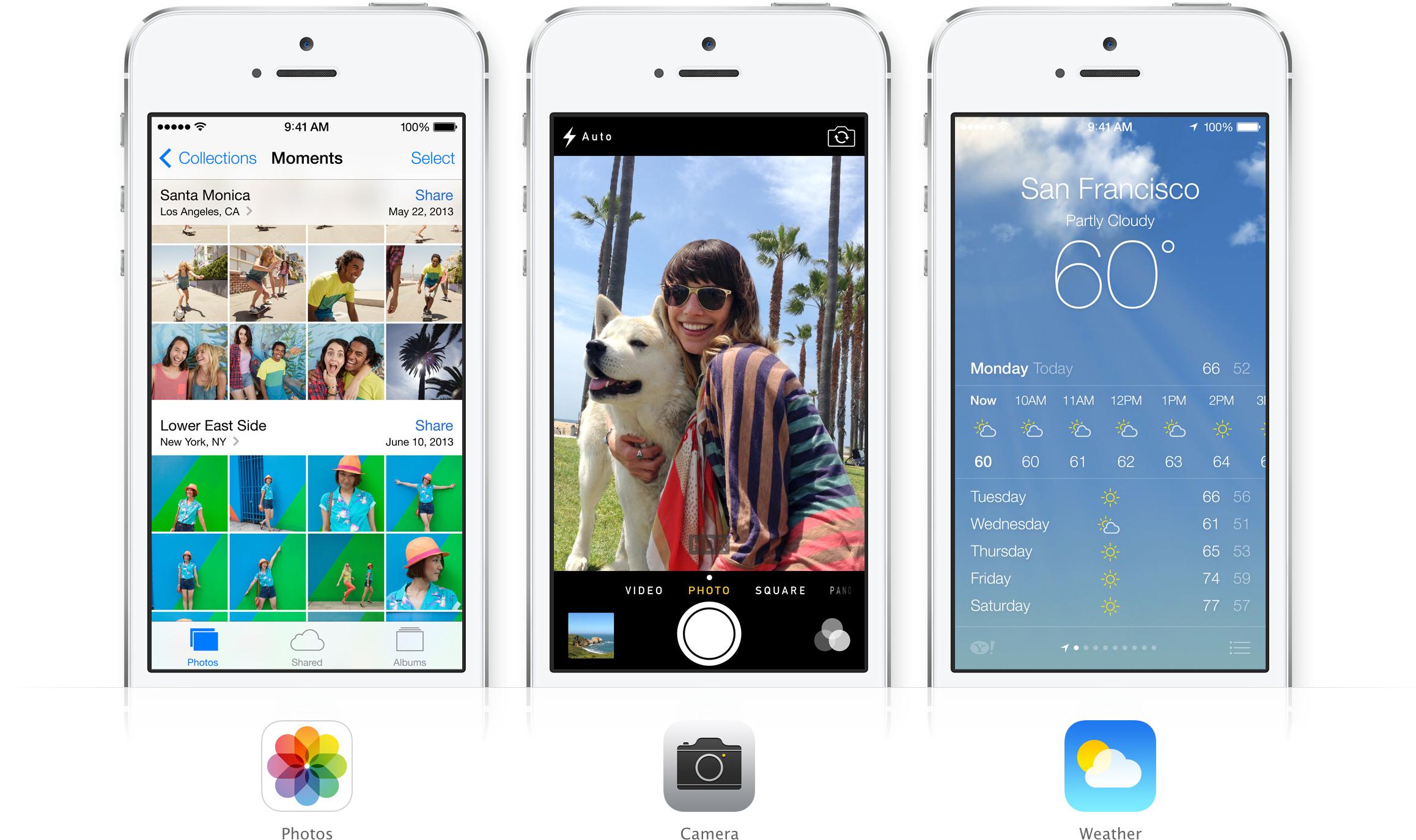 Fotos, Câmera e Tempo - iOS 7