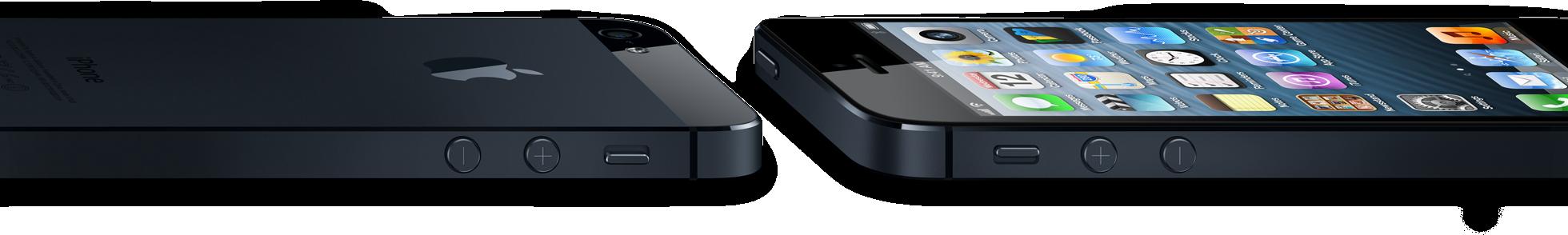 iPhones 5 de lado