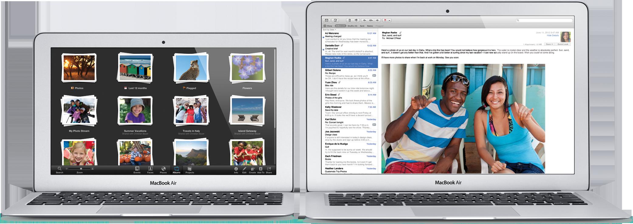Novos MacBooks Air de 11 e 13 polegadas de frente
