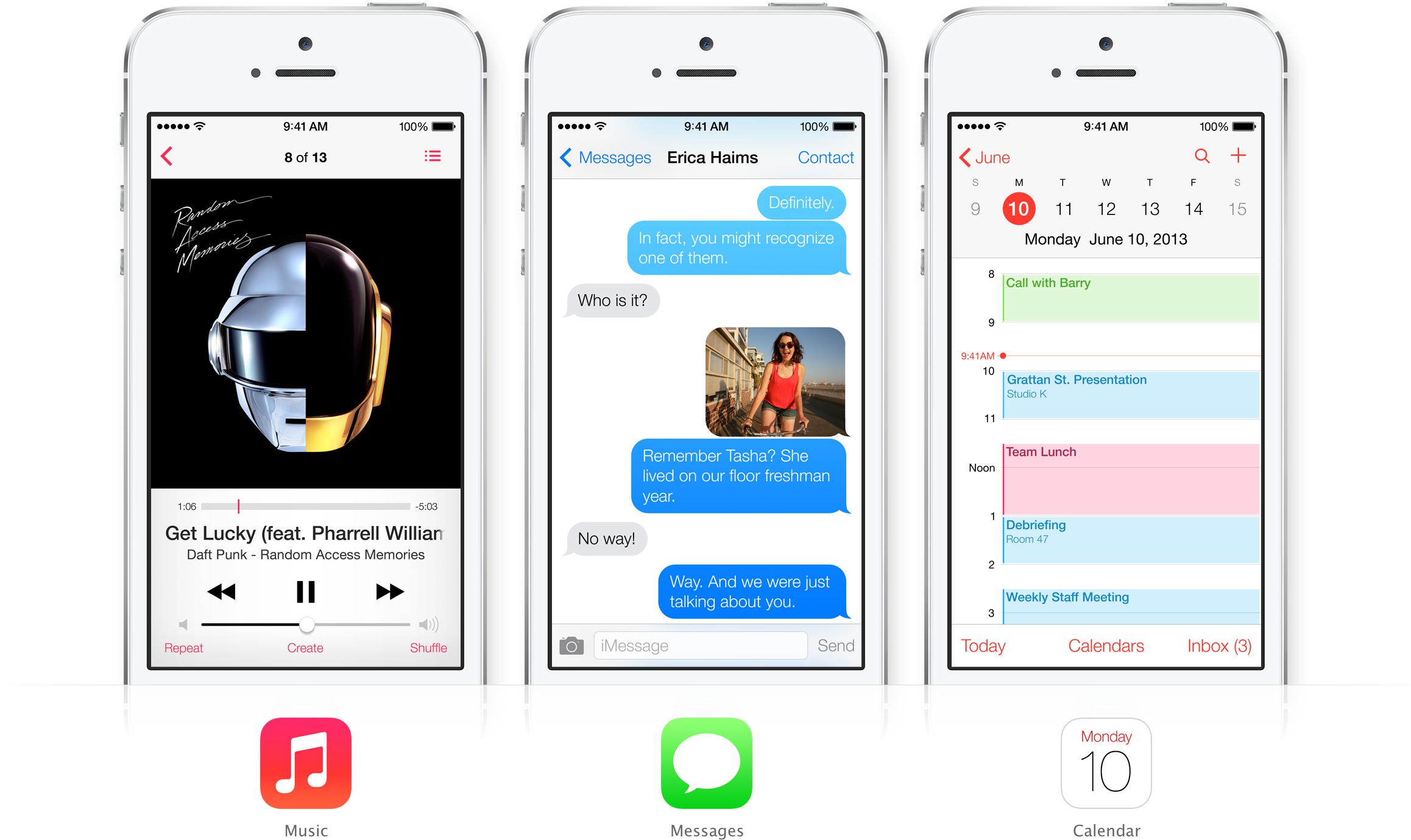 iOS 7 - Música, Mensagens e Calendário