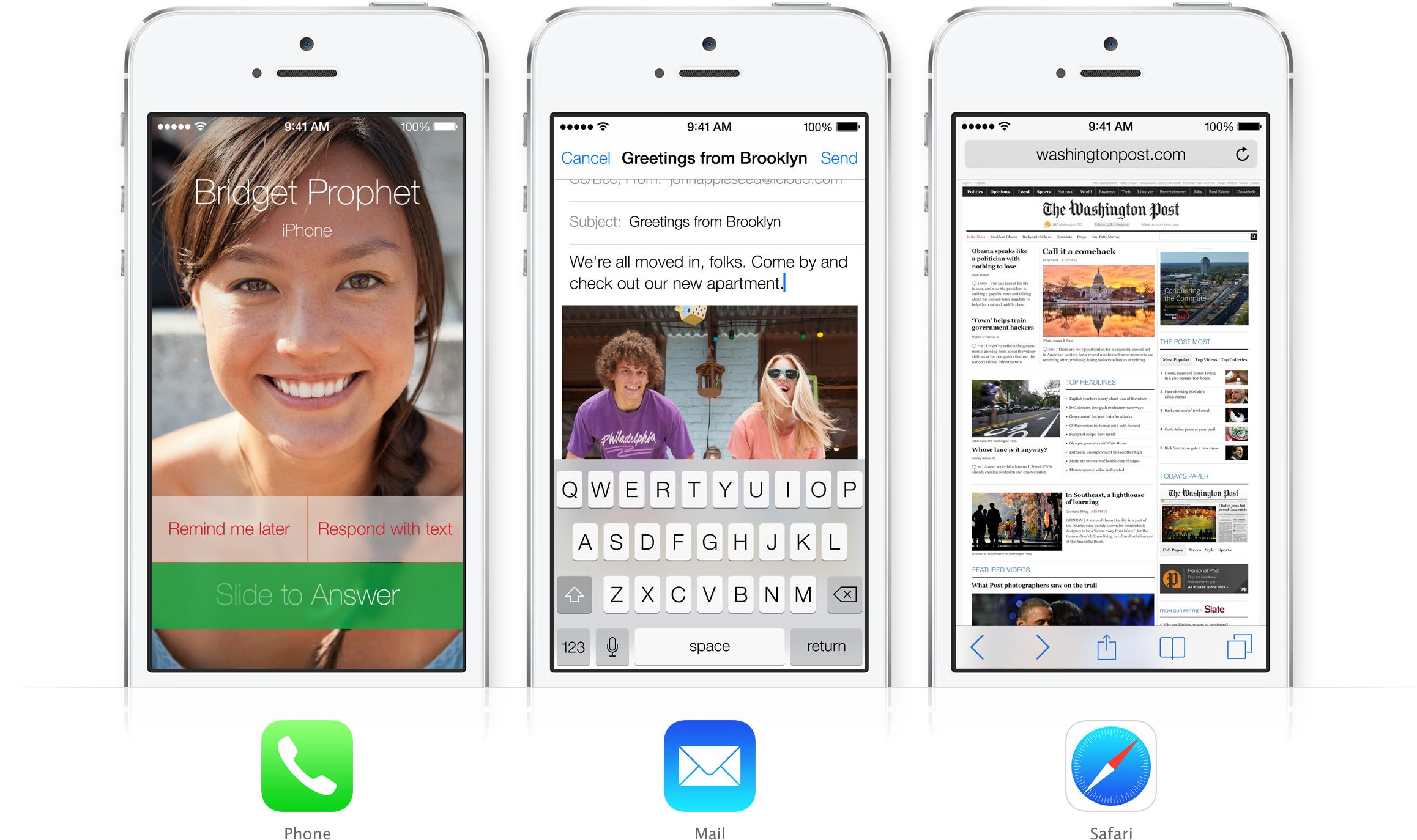 iOS 7 - Phone, Mail e Safari