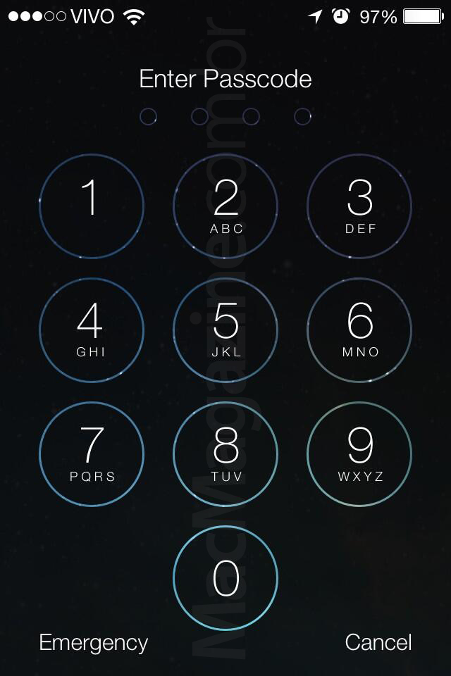 Screenshot do iOS 7