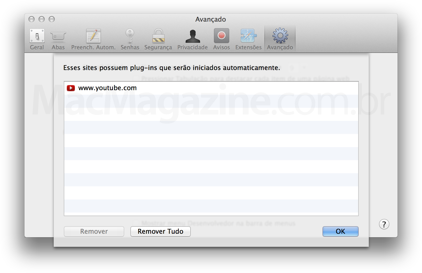 Screenshot do OS X Mavericks
