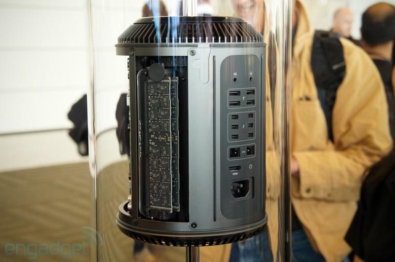 Mac Pro em exposição no Moscone