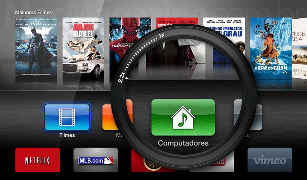 """Menu """"Computadores"""" - Apple TV"""