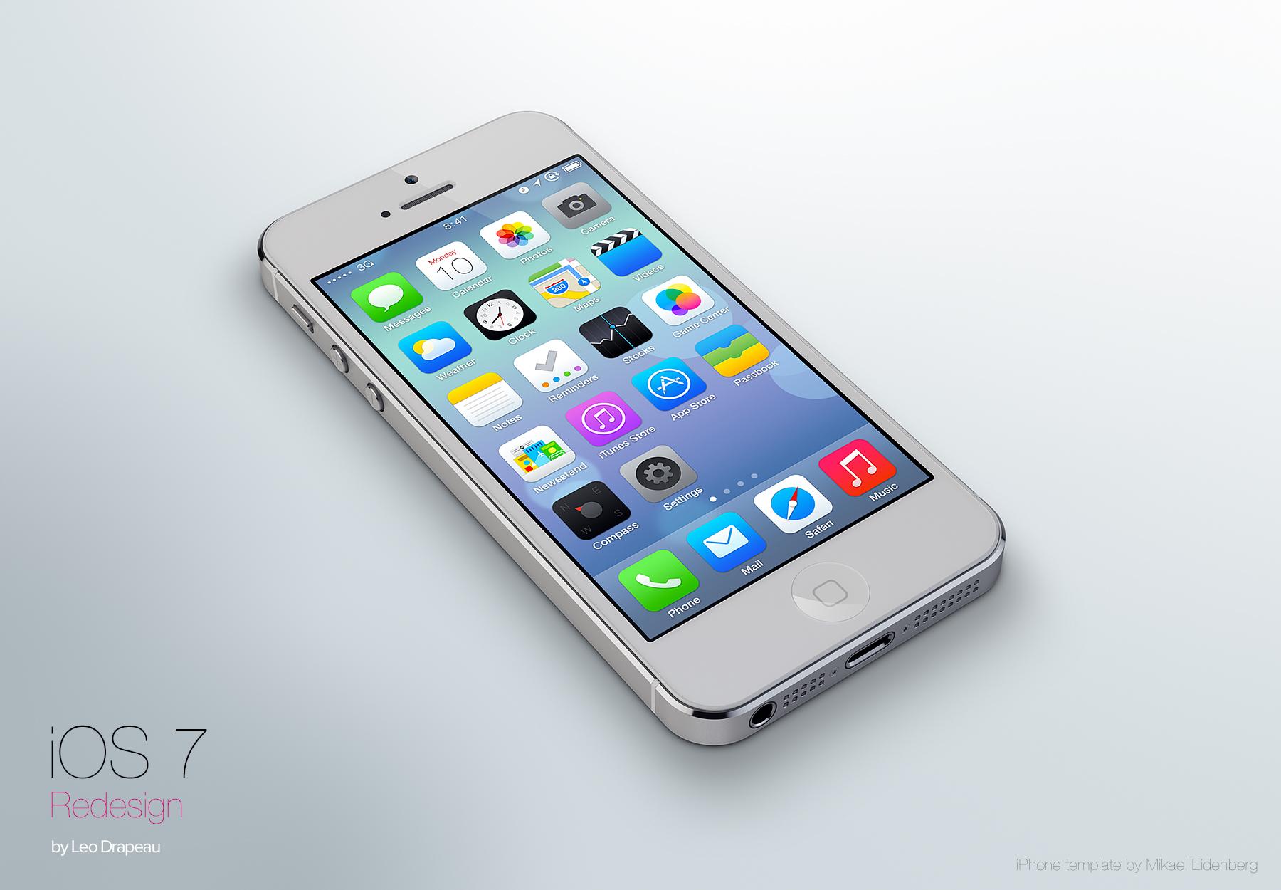 iOS 7 por Leo Drapeau