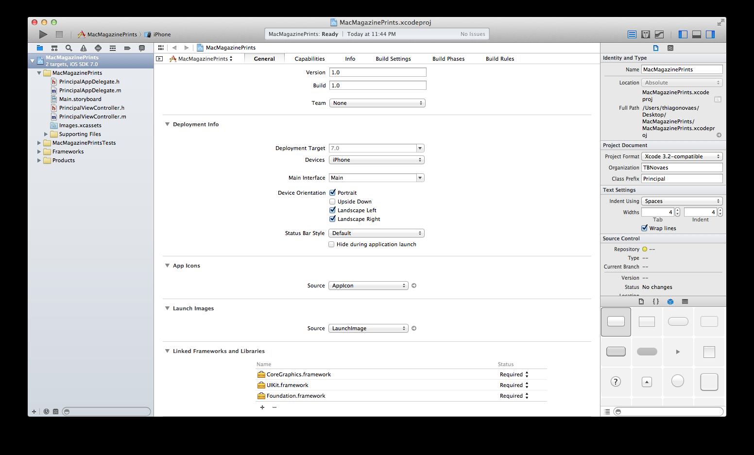 Screenshot do Xcode 5 beta