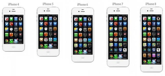 iPhones em diferentes tamanhos