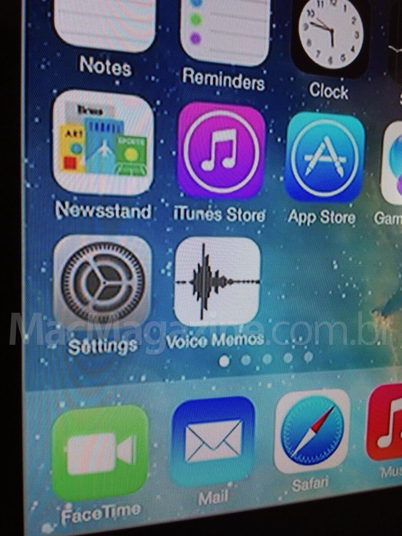 Ícone do Gravador de Voz no iOS 7