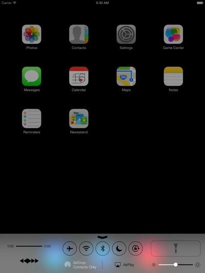iOS 7 rodando no iPad