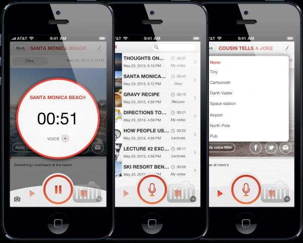 App de gravação de voz para iOS oferece bons recursos como efeitos sonoros e exportação para Dropbox e Google Drive | MacMagazine.com.br