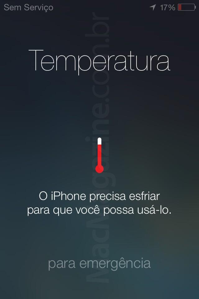 Alerta de temperatura no iOS 7