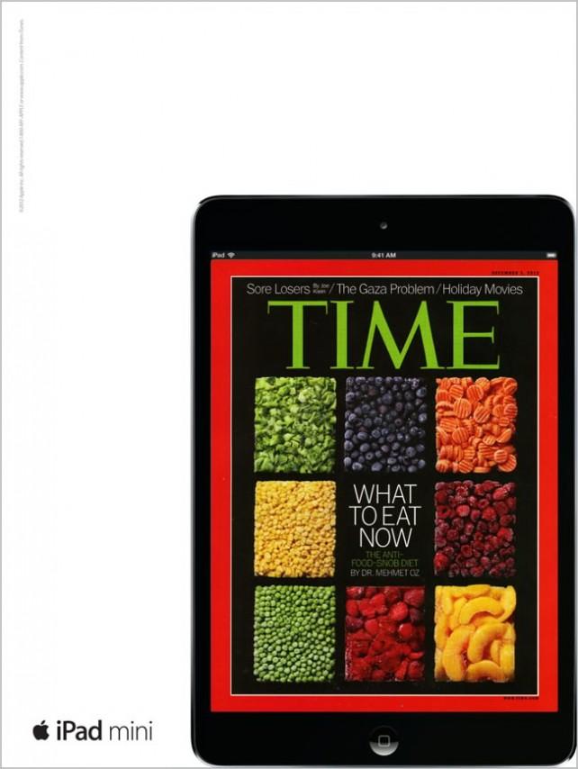 Anúncio TIME, do iPad mini