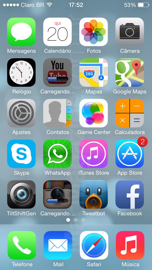 Atualizando apps no iOS 7