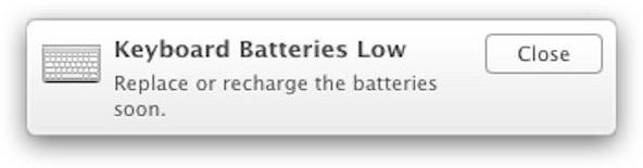 Alerta de baterias no Mavericks