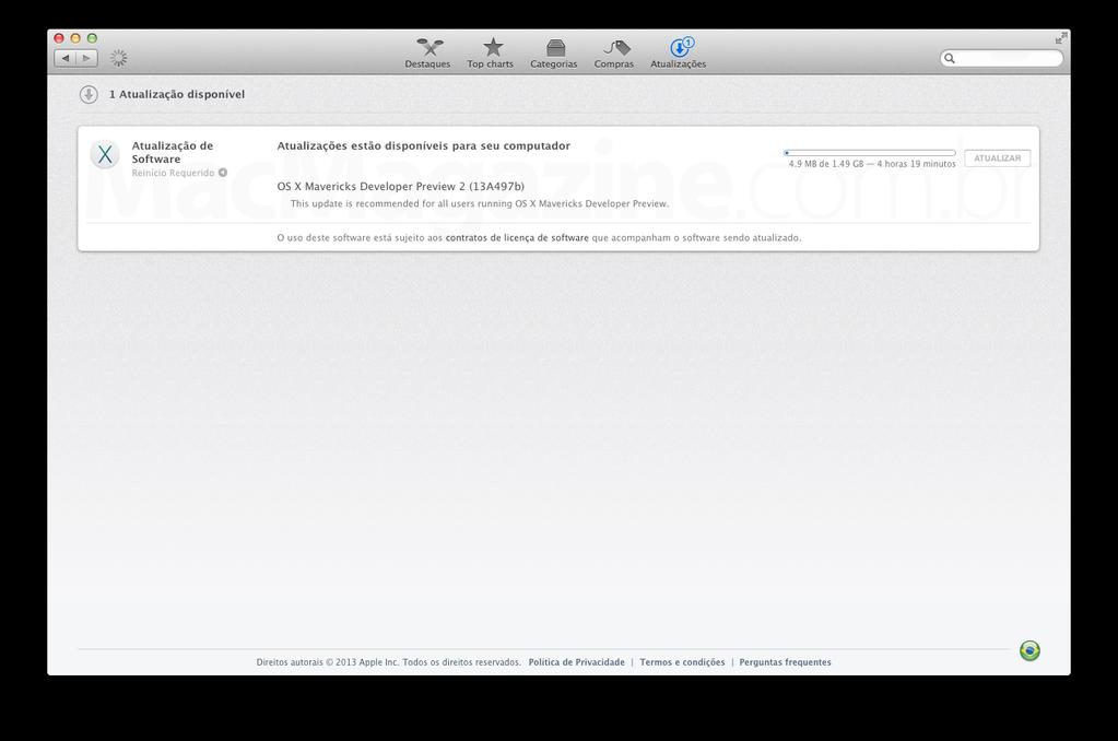 OS X Mavericks Developer Preview 2