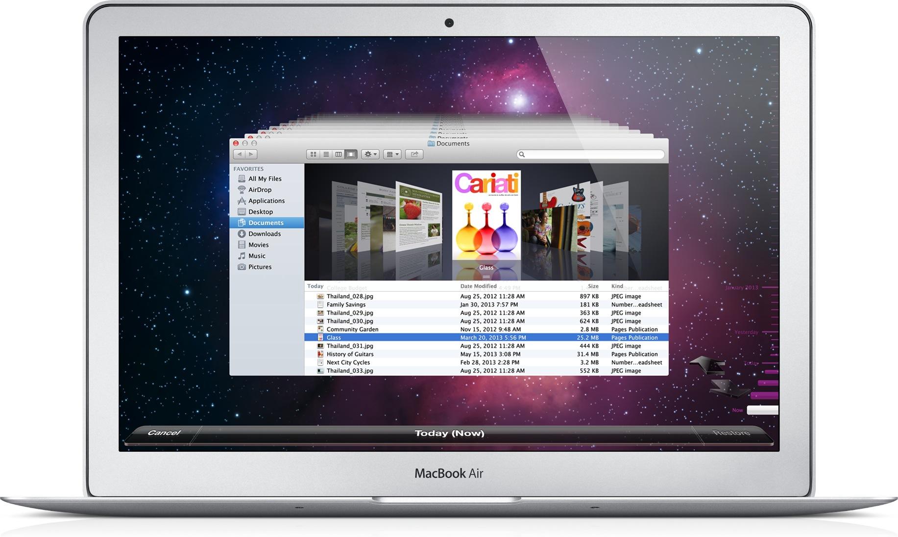 Time Machine num MacBook Air