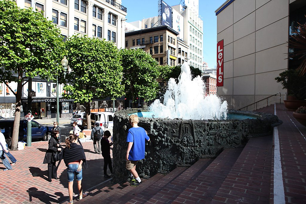 Fonte em San Francisco, na Union Square