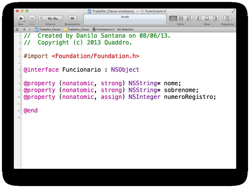 Declarando arquivo Foundation.h no Xcode